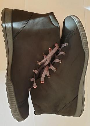 Демисезонные ботинки-макасины ecco, р-43/27,5-28см (без стелек)