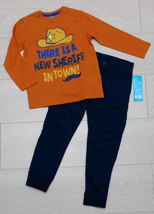 Костюм комплект реглан и штаны джоггеры коттон pepco размер 110.