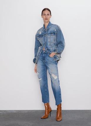 Укороченные джинсы прямого кроя, размеры 36,38