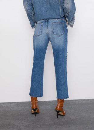 Укороченные джинсы прямого кроя, размеры 36,382 фото