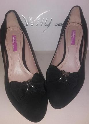 Замшевые туфли на каблуке why denis