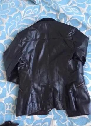 Куртка кожаная коричневая
