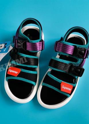 Крутые спортивные детские босоножки сандалии
