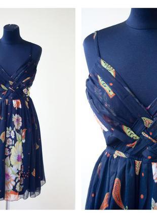 #розвантажуюсь легкое шифоновое платье в крупные цветы