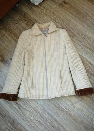 Трендовая, стеганая, куртка италия весна, осень, blu gaya 44р. м