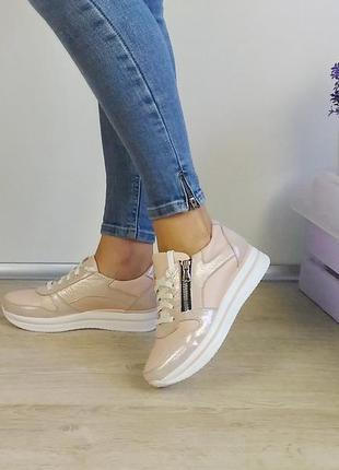 Модельные кроссовки, натуральная кожа