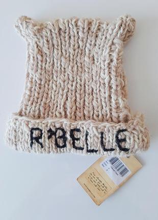 Очень теплая шерстяная шапка с ушками бренд scotch r'belle оригинал