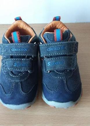 Кожаные ботинки, кроссовки geox 20 р. стелька 12,8 см