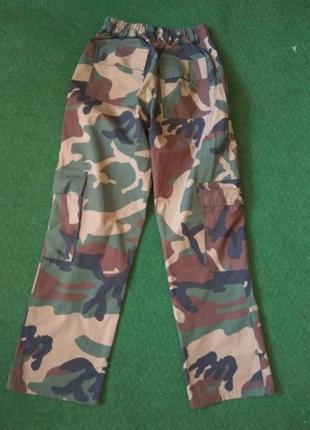Брюки подростковые камуфляж походные штаны тактические woodland для пейнтбола