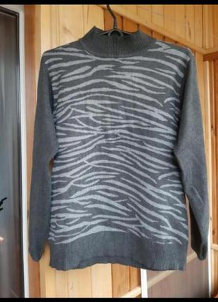Гольф гольфик кофта зебра свитер тёплый
