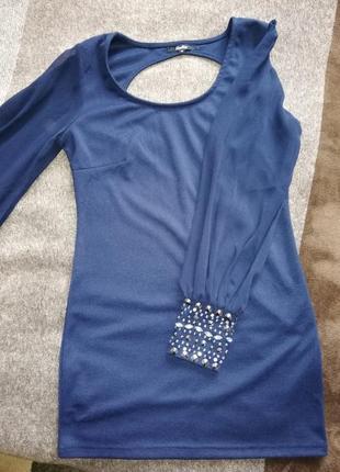 Сукня коротенька, темно синього кольору