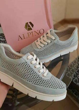 Кроссовки туфли на шнурке алпино