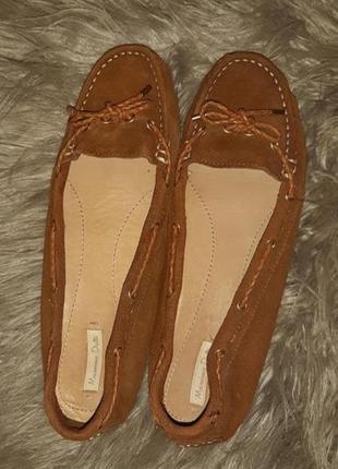 Замшевые мокасины туфли от massimo dutti р. 40-41 26 см