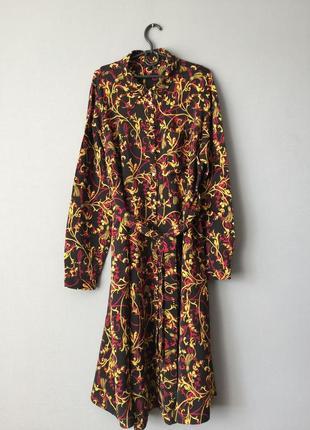 Длинное платье рубашка next 20---54-56 размер.
