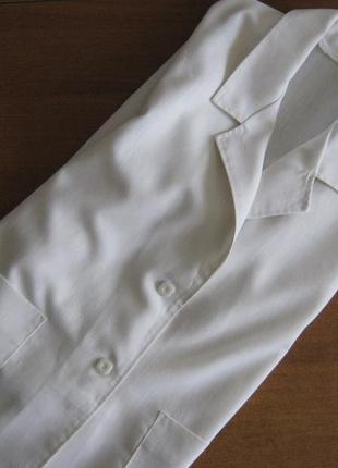 Трендовый льняной женский жакет / белый льняной пиджак / оверсайз пиджак