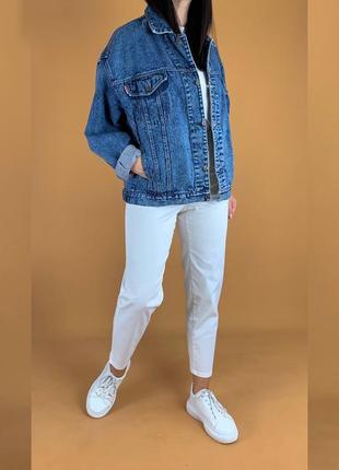 Объёмная джинсовка варёнка /куртка джинсовая в винтажном стиле crown!