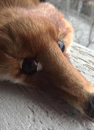 Воротник из натурального меха, шкурка лисы