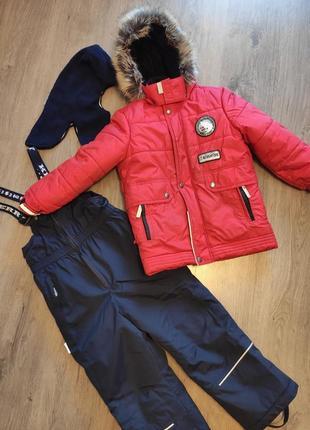 Куртка, полукомбинезон, зимний комплект kerry