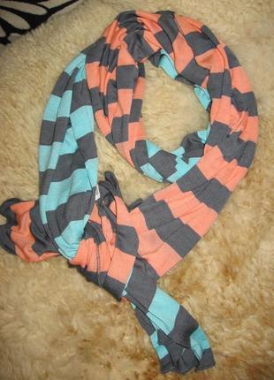 Яркий трикотажный шарфик chillin