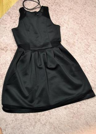Платье с сеткой cropp town