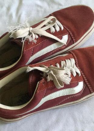 Vans old school ( вансы бордовые) кроссовки, кеды