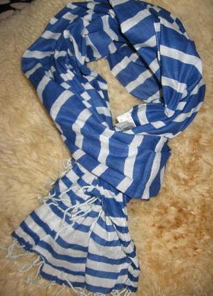 Хлопковый качественный легкий шарф mohito