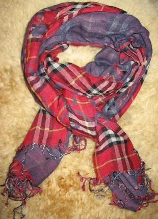 Качественный огромный комбинированный шарфк