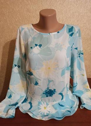 Блуза с цветочным принтом marks&spencer