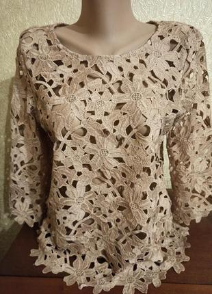 Ажурная блуза бренда vero moda