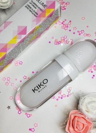 Kiko крем для губ с эффектом увеличения обьема transparent lip volume