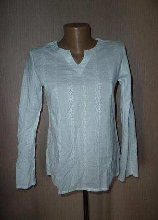 Debenhams белая вышитая блузка на 13-14 лет