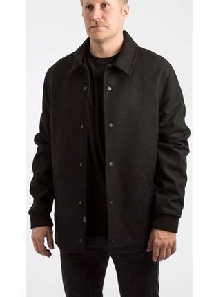 Пальто шерстяное шведского бренда wesc мужское черное производство турция