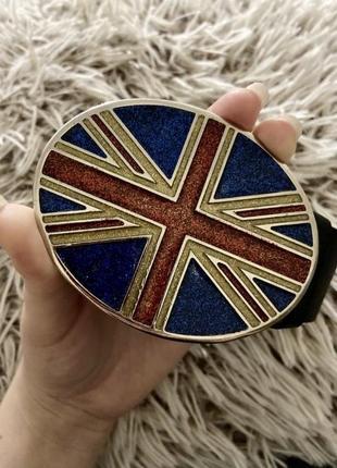 Кожаный ремень пояс с флагом великобритании