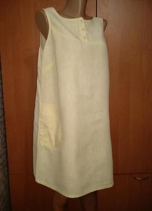 Льняное платье, сарафан, туника лён пог=49 см