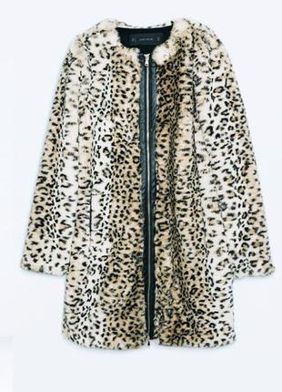 Леопардовая шуба zara