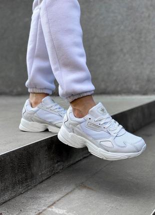 Кроссовки adidas falcone белый цвет (весна-лето-осень)😍