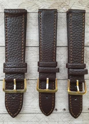 Коричневый кожаный ремешок для часов,18,20,22.