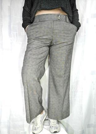 Красивые широкие брюки с золотистым люрексом