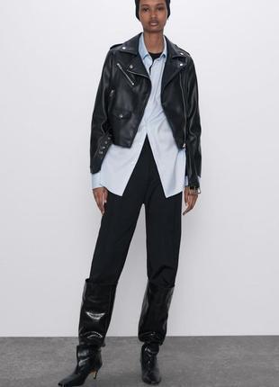 Куртка из искусственной кожи zara