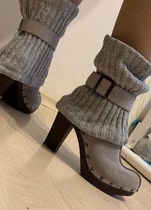 Туфли с гетрами