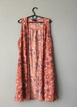 Летняя накидка цветочный принт new look 12---46-48 размер.
