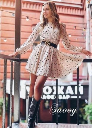 Платье в горошек 🖤