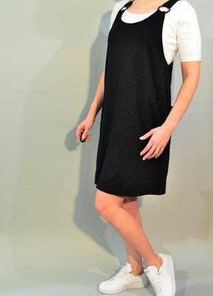4189\90 сарафан черного цвета new look l