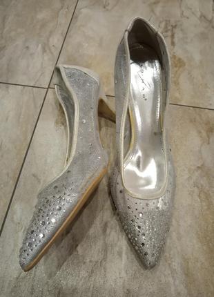 Туфли свадебные со стразами lunar