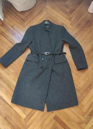 Классическое пальто,двубортное, оверсайз
