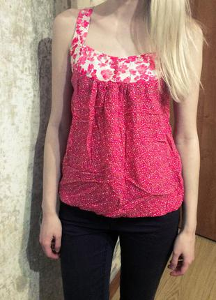 Натуральная легкая нежная розовая блузка/майка lerros
