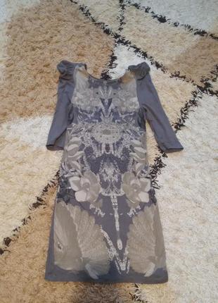 Трикотажное платье от mango