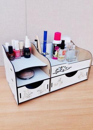 Органайзер для косметики на стол подставка пенал кейс