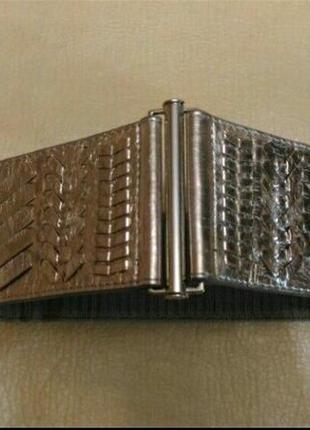 Пояс резинка серебристо-бронзовый, для вехней одежды