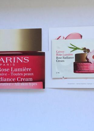 Восстанавливающий дневной крем от морщин - clarins super restorative rose radiance cream